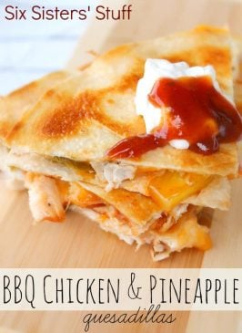 BBQ Chicken and Pineapple Quesadillas Recipe