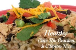 Healthy Meals Monday: Cafe Rio Slow Cooker Chicken and Cilantro Rice