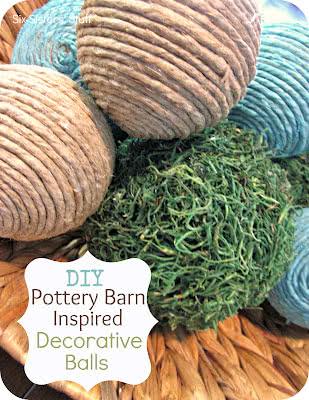 DIY Pottery Barn Inspired Decorative Balls