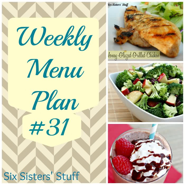 Six Sisters' Weekly Menu Plan #31