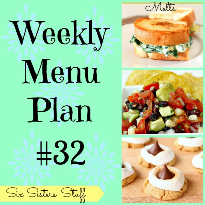 Six Sisters' Weekly Menu Plan #32