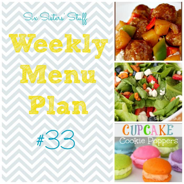 Six Sisters' Weekly Menu Plan #33