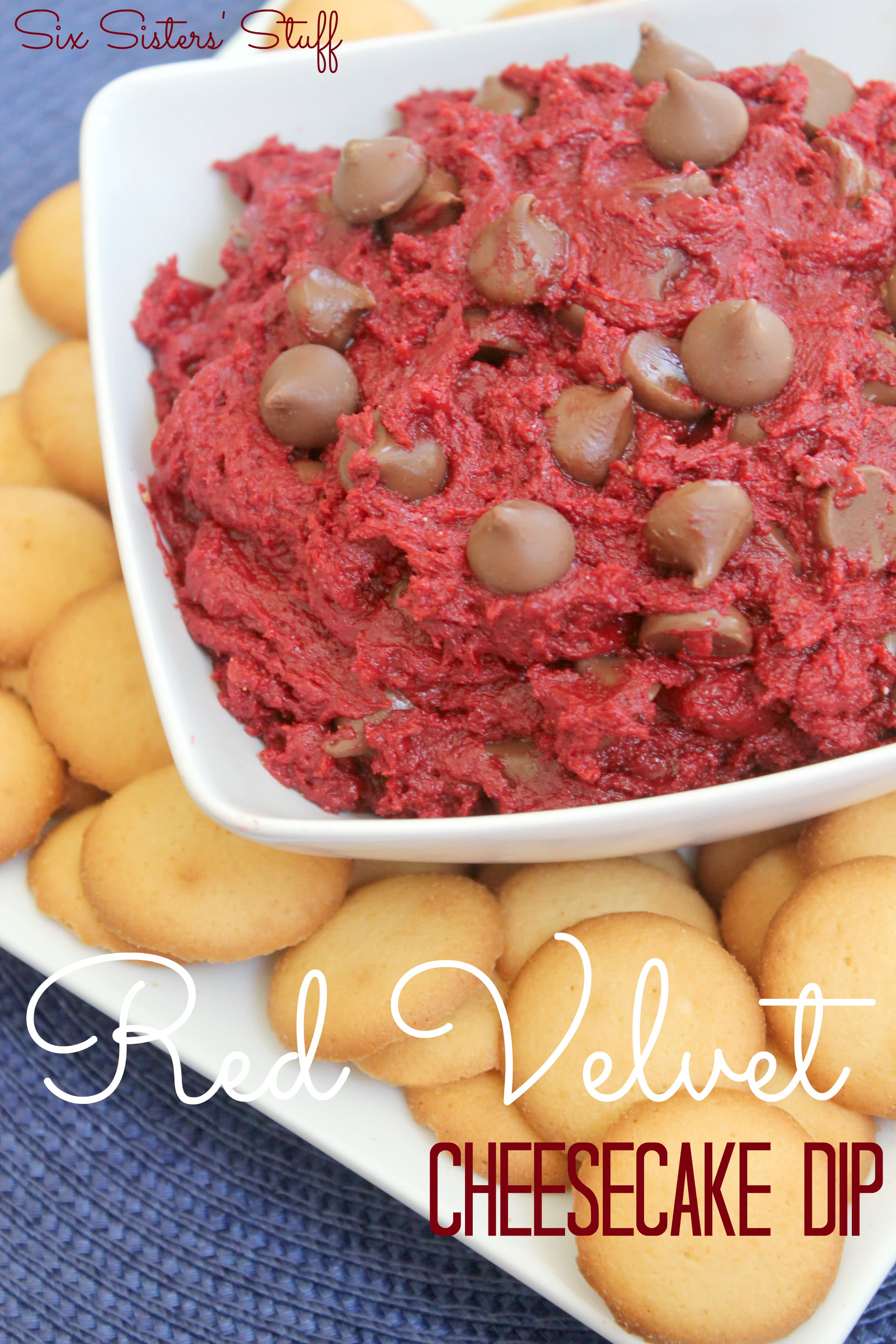 Red Velvet Cheesecake Dip