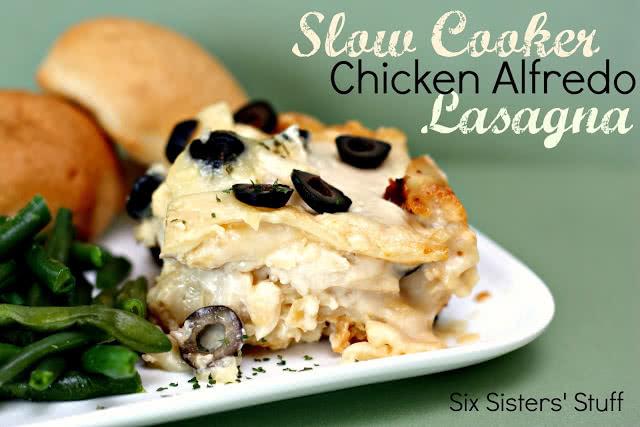 Slow Cooker Chicken Alfredo Lasagna Recipe