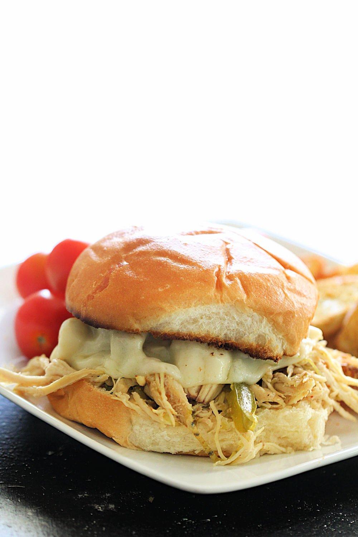 Slow Cooker Chicken Philly Cheesesteak Sandwiches Recipe