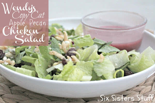 Wendy's copy cat apple pecan chicken salad