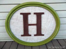 DIY Framed Monogrammed Wall Hanging