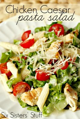 Grilled Chicken Caesar Pasta Salad Recipe
