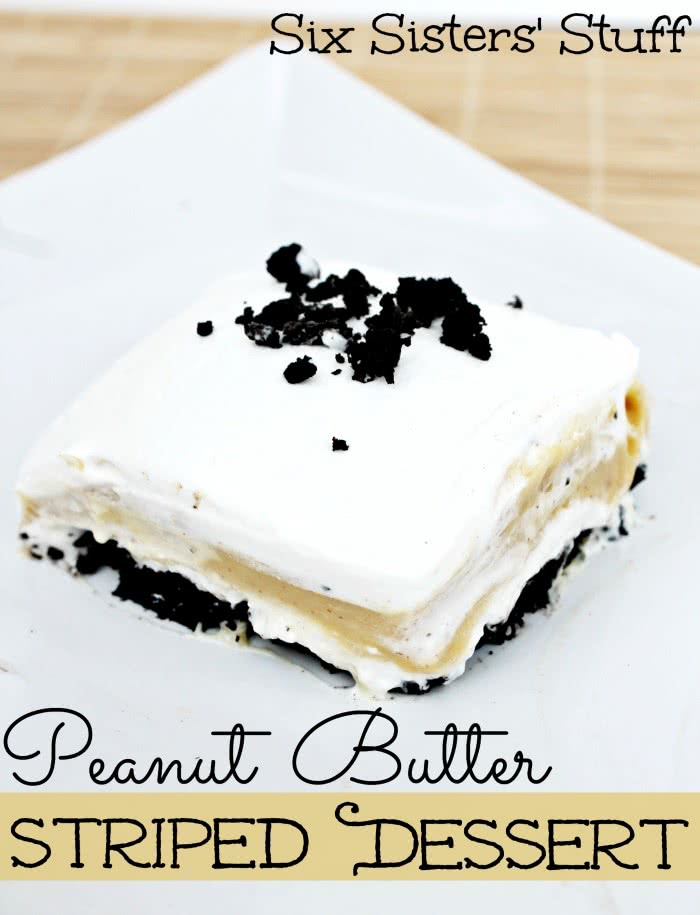 Peanut Butter Striped Dessert