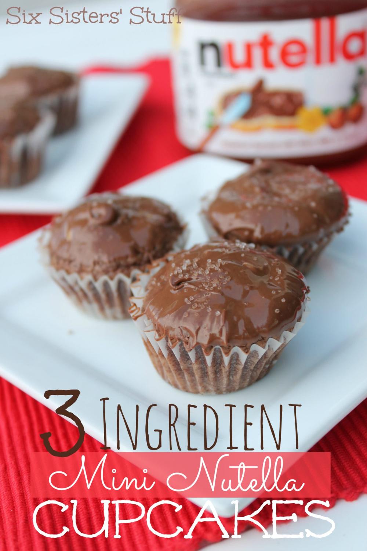 3 Ingredient Mini Nutella Cupcakes Recipe
