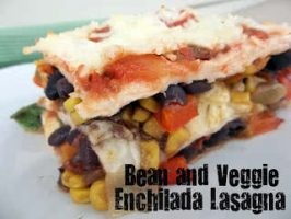 Healthy Meals Monday: Bean And Veggie Enchilada Lasagna