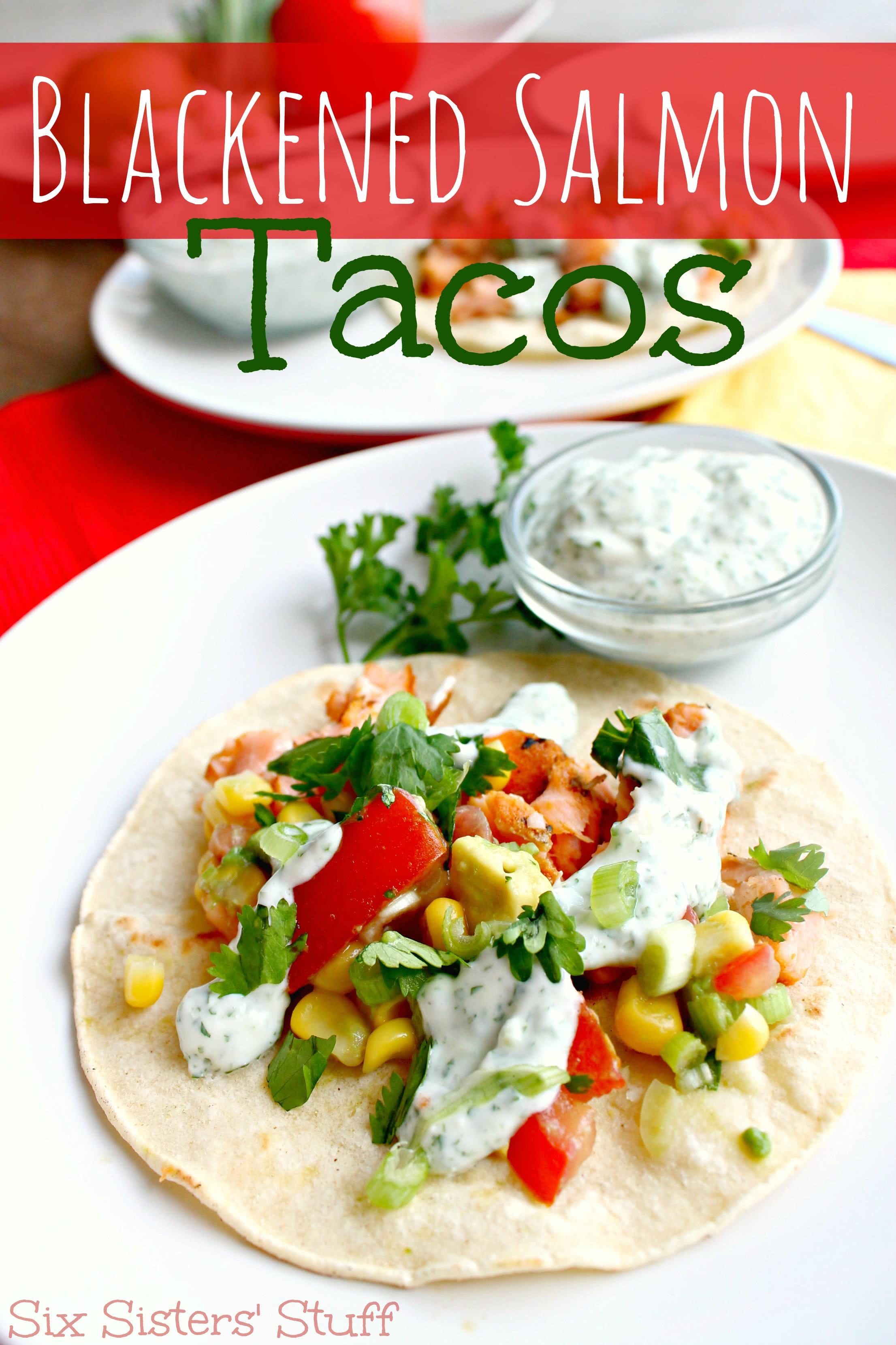 Delicious Blackened Salmon Tacos