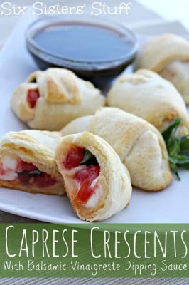 Caprese Crescents with Balsamic Vinaigrette Dressing
