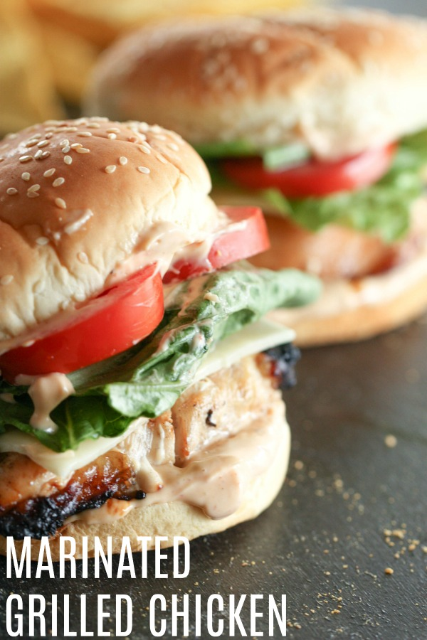 Marinated Grilled Chicken Sandwich