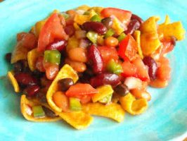 Three Bean Frito Chip Salad Recipe