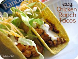 Easy Chicken Ranch Tacos Recipe