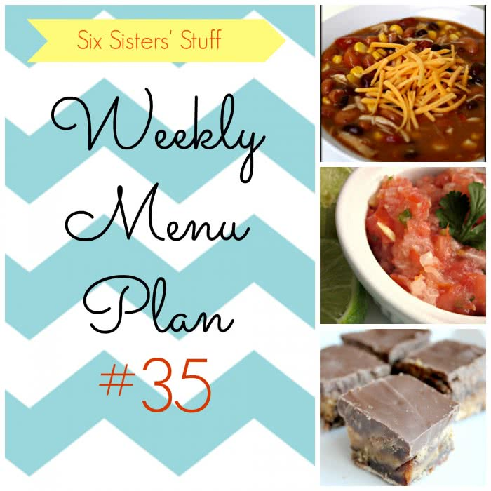 Six Sisters' Weekly Menu Plan #35