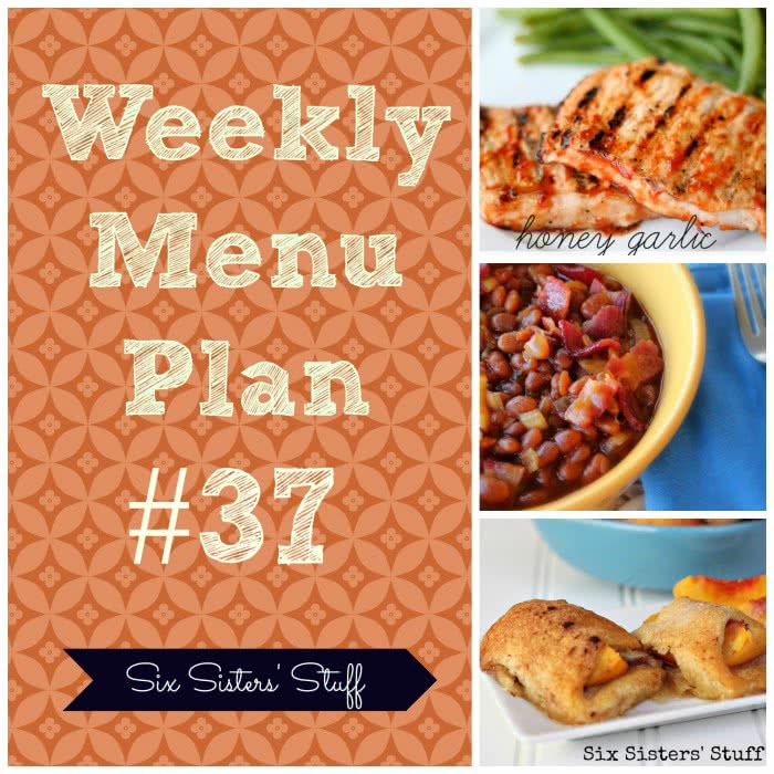 Six Sisters' Weekly Menu Plan #37