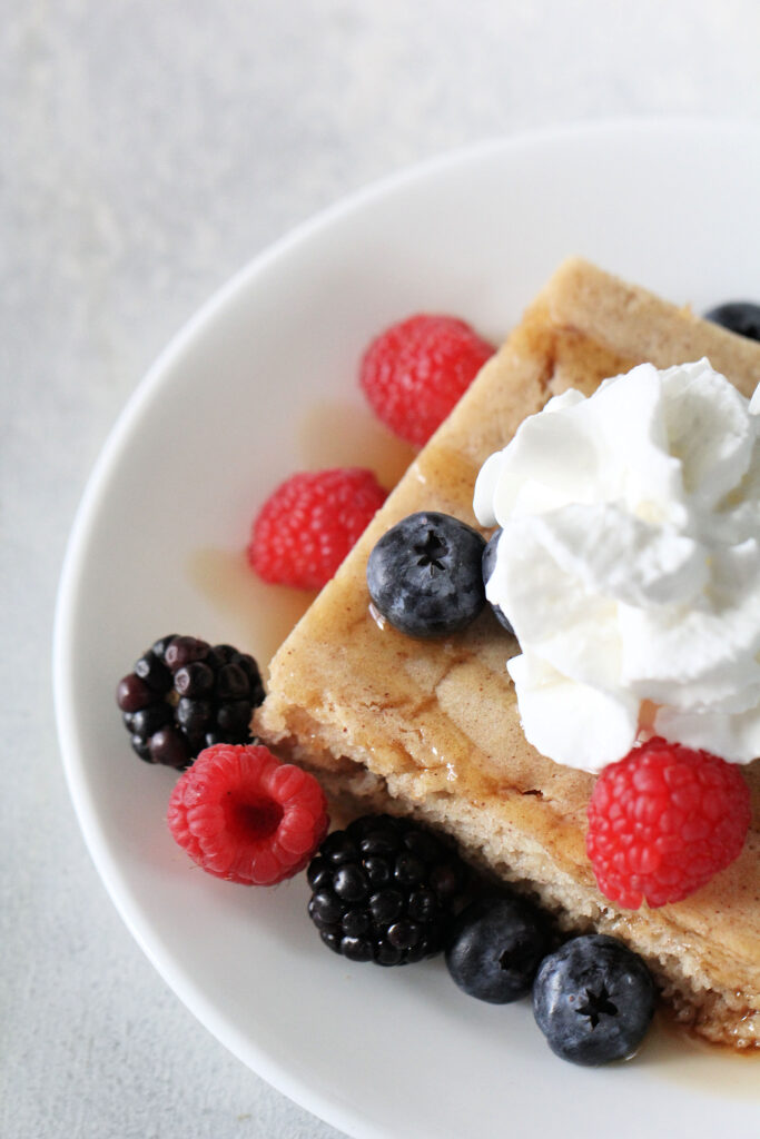 baked pancakes as freezer meals