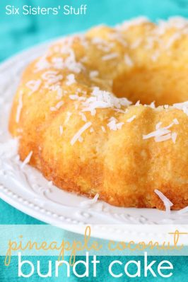 Pineapple Coconut Bundt Cake Recipe