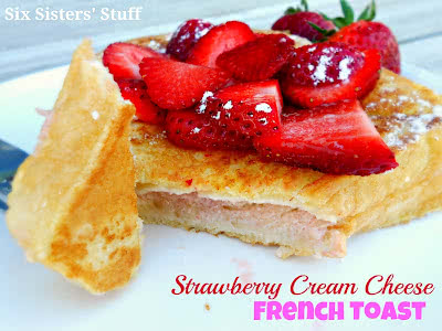 Puffy Strawberry Cream Cheese French Toast