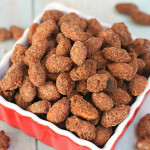 Slow Cooker Cinnamon Almonds on SixSistersStuff
