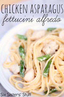 Chicken Asparagus Fettucini Alfredo Recipe