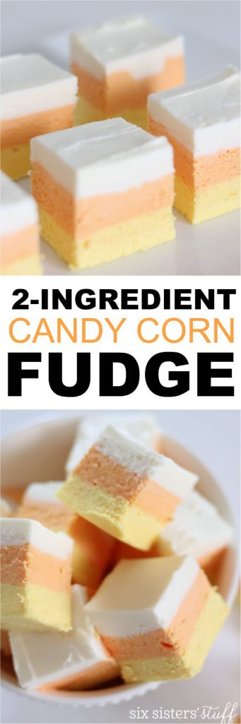 2-ingredient candy corn fudge