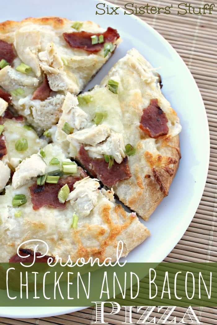 Personal Chicken Bacon Alfredo Pizza Recipe