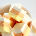 2-Ingredient Candy Corn Fudge in bowl