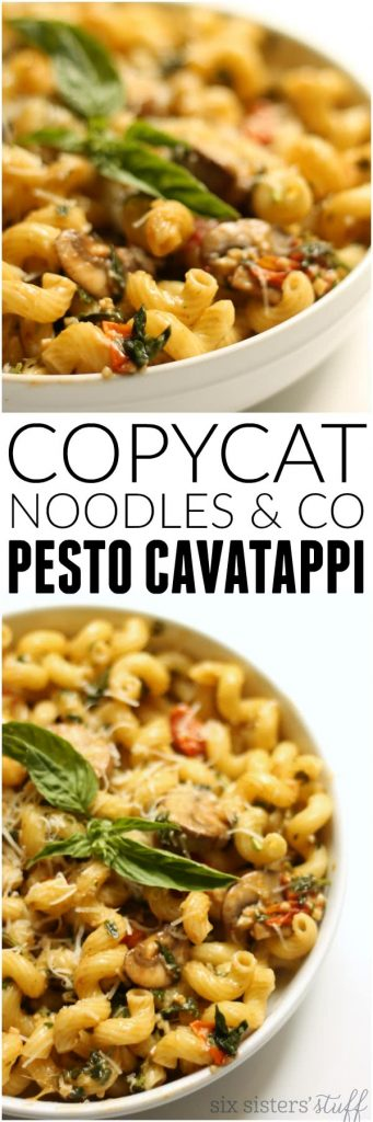 Copycat noodles & co pesto cavatappi