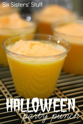 Halloween Orange Party Punch Recipe