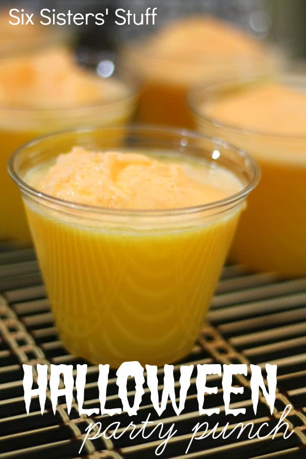 Halloween Orange Party Punch Recipe