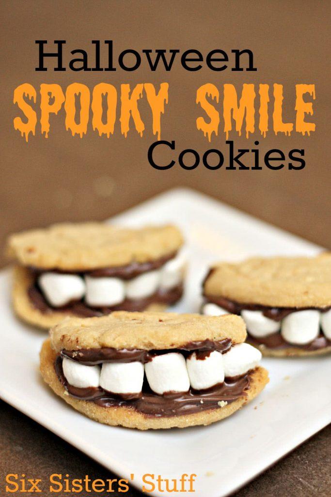 halloween spooky smile cookies