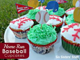 Home Run Baseball Cupcakes (and a cake mix secret!)