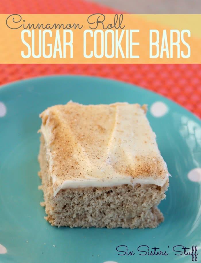 Cinnamon Roll Sugar Cookie Bars