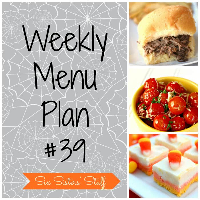 Six Sisters' Weekly Menu Plan #39