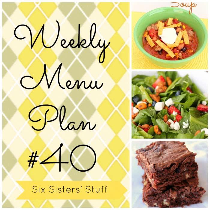 Six Sisters' Weekly Menu Plan #40