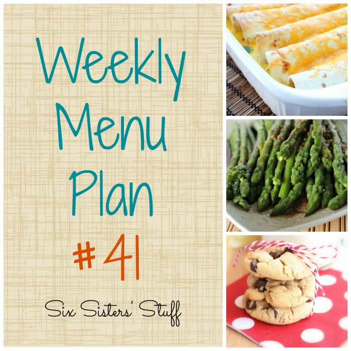 Six Sisters' Weekly Menu Plan #41