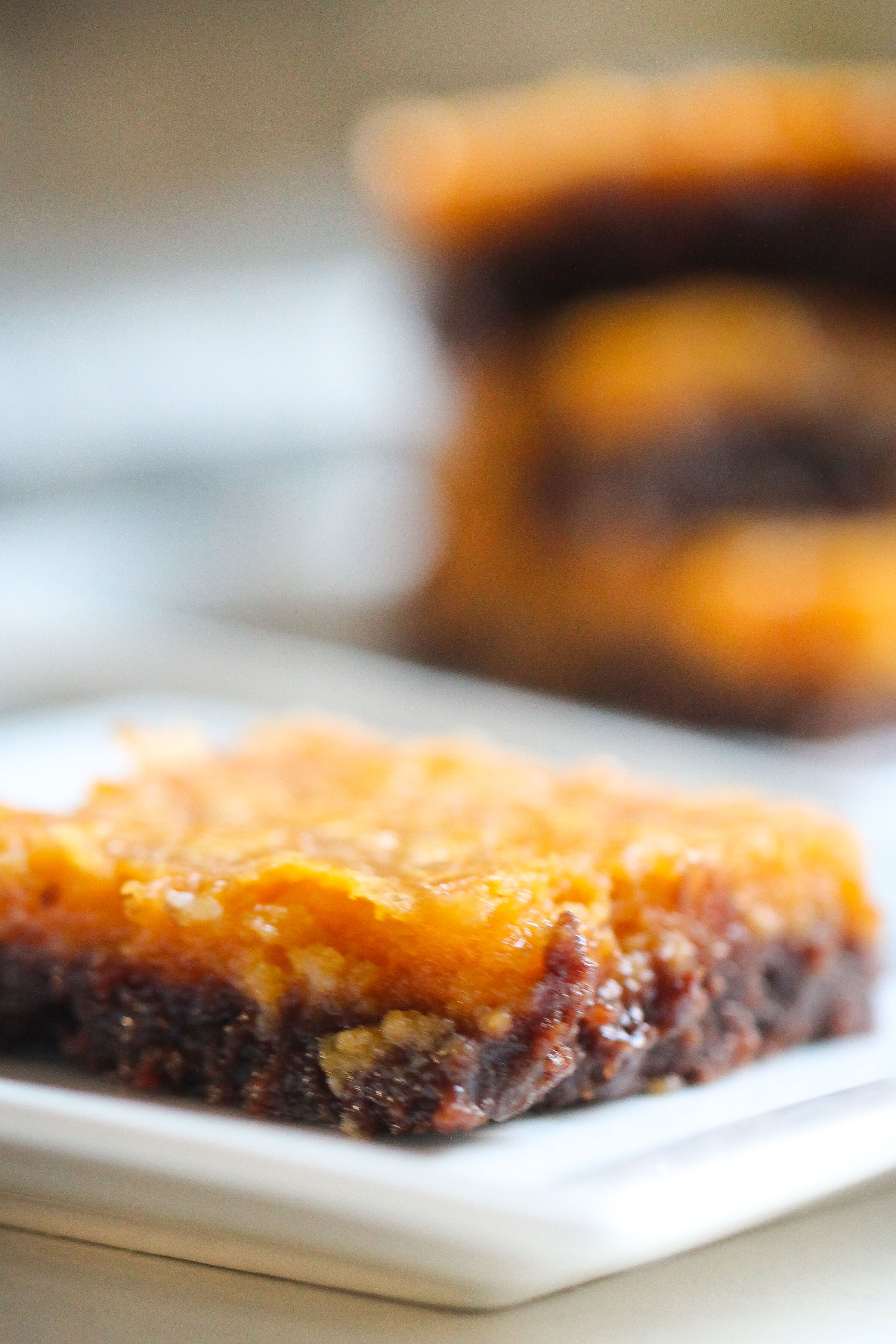 Chocolate Pumpkin Chess Squares
