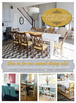 Four Chairs Furniture Dining Room Sale and Giveaway
