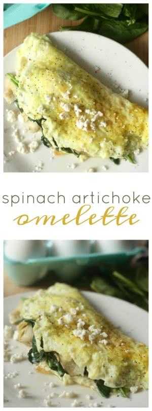 Spinach Artichoke Omelette pin