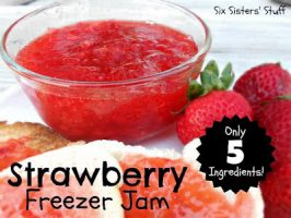 Mom's Easy Strawberry Freezer Jam (only 5 ingredients!)