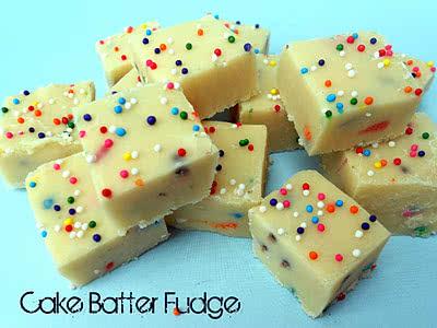 White Chocolate Cake Batter Fudge Recipe
