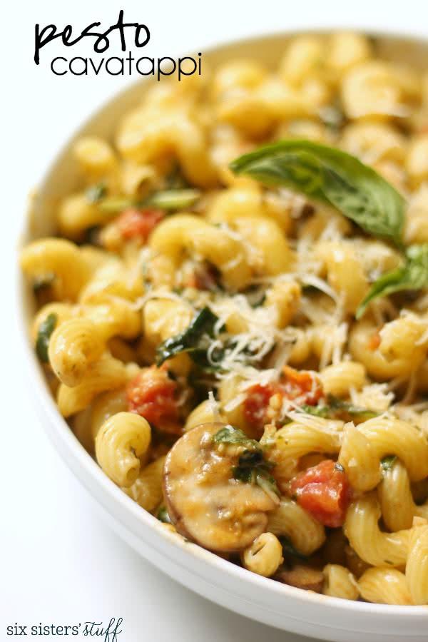Noodles & Company Pesto Cavatappi Copycat