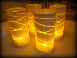 Dollar Store Glass Vase Christmas Luminaries Tutorial