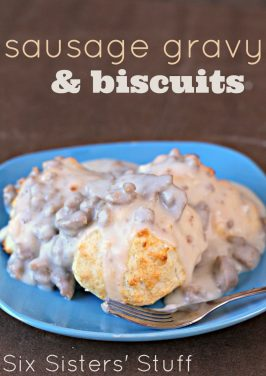 Sausage Gravy and Biscuits (plus a ShirleyJ Giveaway!)