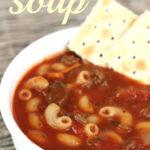 Tomato Macaroni soup