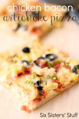 Chicken Bacon Artichoke Pizza Recipe