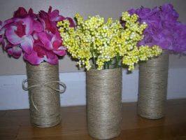 D.I.Y. Twine Vases